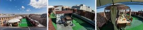 Площадка под барбекю на крыше