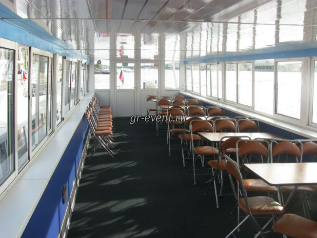 Верхняя палуба корабля Москва.